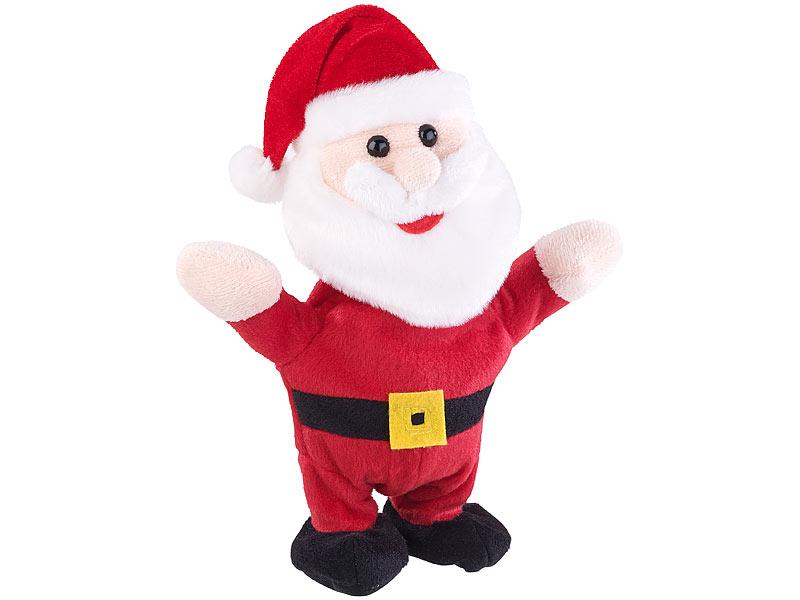 Playtastic Sprechender Weihnachtsmann mit Mikrofon, spricht nach und ...