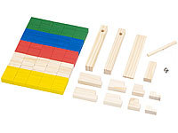 Playtastic 263-teiliges Domino-Set mit Holzsteinen & Action-Elementen