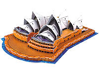 "Playtastic Faszinierendes 3D-Puzzle ""Opera House"" in Sydney, 58 Puzzle-Teile"