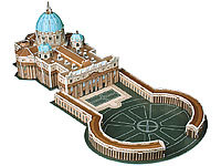 Playtastic 3D-Puzzle Petersdom mit Petersplatz in Rom