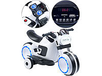 Playtastic Futuristisches Elektro-Kindermotorrad mit LED-Licht und MP3-Player