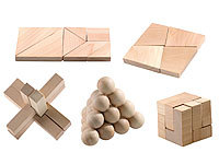 "Playtastic Geduldspiel aus Holz ""Super-Knobel-Pack"" 5er-Set"