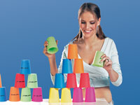 Playtastic 16-teiliges Stacking-Set inklusive Stoppuhr